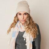 Zachte dames sjaal Pastel Triangle Lange shawl Beige Roze Blauw glitter_