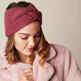 Scarfz haarband hoofdband Soft as Snow fuchsia headband knitted