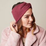 Scarfz haarband hoofdband Soft as Snow roze rood