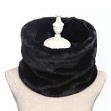 Faux fur col sjaal|Zwart|Tube shawl|col sjaal|Nep bont_