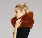 Faux fur col sjaal|Bruin|Tube shawl|col sjaal|Nep bont_