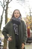 Stoere sjaal Checkered Style|Extra lange dames sjaal|Geruit Geblokt|zwart grijs wit_
