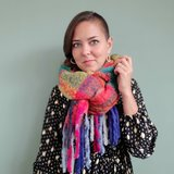 Extra dikke sjaal Winter Madness|Lange shawl|Geruit Geblokt_