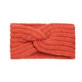 Hoofdband Winter Knot Oranje Gebreide haarband_
