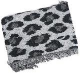 Dames wintersjaal Freaky Leopard|Lange shawl|Extra dikke kwaliteit|Zwart grijs glitter_