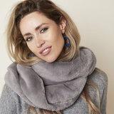 Faux fur col sjaal Grijs Tube shawl col sjaal Nep bont_