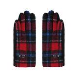 Zachte dames handschoenen Scotland Rood blauw Geruit Geblokt_
