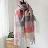 Zachte dames sjaal Winter Magic|Paars Roze|Geblokt_