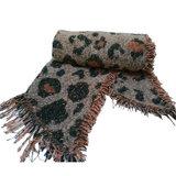Warme dames sjaal Leopard Lovers|Langwerpige shawl|Extra dikke kwaliteit|Luipaard|Glitter_