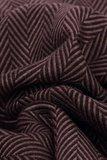 Heren sjaal Zigzag|Warme heren shawl|Chocolade bruin|Fijne franjes_