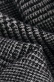 Mooie heren sjaal Pure Check|Wollen shawl|Geruit geblokt|Grijs zwart_