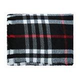 Stoere sjaal London Vibes|Extra lange dames sjaal|Geruit Geblokt|zwart wit rood_