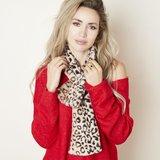 Faux fur lange sjaal Winter Fluff|Beige|Luipaard print|Nep bont_