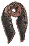 Toffe dames sjaal Leopard Love Lange dames shawl Luipaard Bruin Geel Franjes_