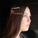 Haarclips Flamingo Sparkle|Haarschuifjes|Goud|Glitter|Set van 3_