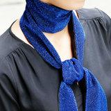 Blauwe sjaal Glitter Party Lange shawl Dunne sjaal_