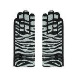 Zachte dames handschoenen Zebra|Zwart grijs|warme handschoenen_