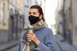 Zwart mondmasker Stylish|Katoen mondkapje|Wasbaar|Excl. filters_