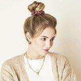 Mooie scrunchie Animal|Haarelastiek|Goud Rood|Froezel_