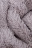 Warme faux fur meisjes sjaal Rose lichtgrijs_