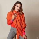 Warme dames sjaal Comfy Winter|Mintgroen effen shawl_