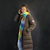 Extra zachte sjaal Soft Check Wintersjaal dames Blauw Groen Paars_