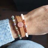 Set kralenarmbanden For You Lederen armband Stenen kralen_