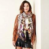 Langwerpige sjaal Cute Prints Luipaard kleurrijk Paars Geel Bruin_