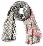 Vierkante sjaal Glitter Fun|Flamingo print|Glitters, Grijs, Roze_