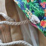 Beach Bag Pineapple party Strandtas Tropische print Canvas_