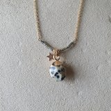 Dalmatier Jaspis ketting Edelsteen sieraad Goudkleurig_
