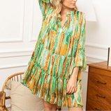 Musthave jurk Miemie|Oranje groen|Tuniek jurk_