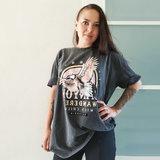 Oversized shirt Canyon Antraciet grijs dames t-shirt_