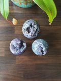 Druif Agaat Bol Edelsteenbol A-Kwaliteit Grape Agate Small 4-5 cm_