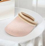 Zonneklep Happy Me - Roze zomerhoed - Strandhoed Zonnehoed_