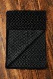 Heren sjaal Diamond Pattern|Warme viscose shawl|Zwart Grijs|Fijne franjes_