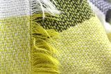 Grijs, gele dames shawl franjes