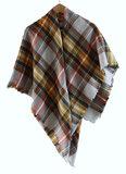 Scarfz sjaal geruit omslagdoek