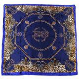 Scarfz vierkante dames sjaal Posh luipaard met gouden kettingen