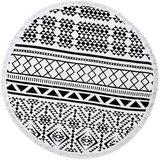 Scarfz roundie beach towel zwart wit retro
