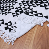 Scarfz roundie beach towel zwart wit retro achterkant