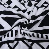 Scarfz roundie beach towel zwart wit retro detail