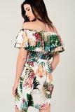 Scarfz jurk blote schouders tropical achterkant