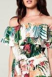 Scarfz jurk blote schouders tropische bloemen