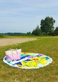 Beach roundie Orchids|Badstof|Dikke kwaliteit|Strandlaken|Ibiza ronde handdoek|Geel Blauw Groen WIt_
