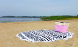 Scarfz badstof beach roundie retor zwart wit