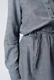 Scarfz grijze jurk overhemdjurk gestreept