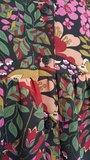 Scarfz boho jurk bloemenprint roze fuchsia groen