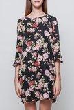 Scarfz little black dress bloemenprint roze rood little black dress