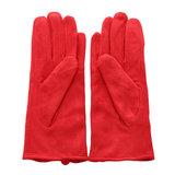 Scarfz warme dames handschoenen rood strik